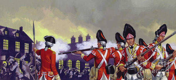 Wall Art - Painting - The Boston Massacre, Massachusetts, 1770 by Ron Embleton