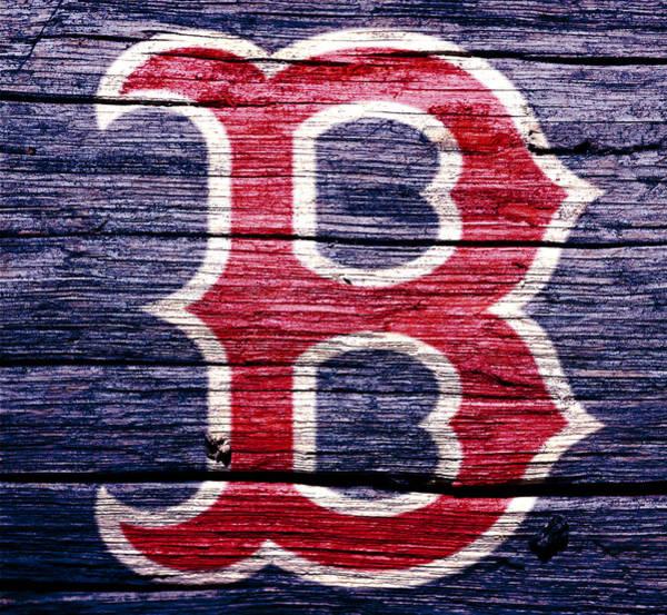 Wall Art - Mixed Media - The Boston Red Sox 2b by Brian Reaves