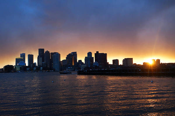 Photograph - The Boston Skyline At Sunset From East Boston by Toby McGuire