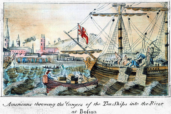 Photograph - The Boston Tea Party, 1773 by Granger