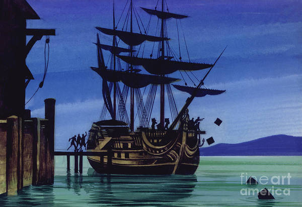 Wall Art - Painting - The Boston Tea Party by Ron Embleton