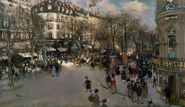 Boulevard Painting - The Boulevard Des Italiens by Jean Francois Raffaelli