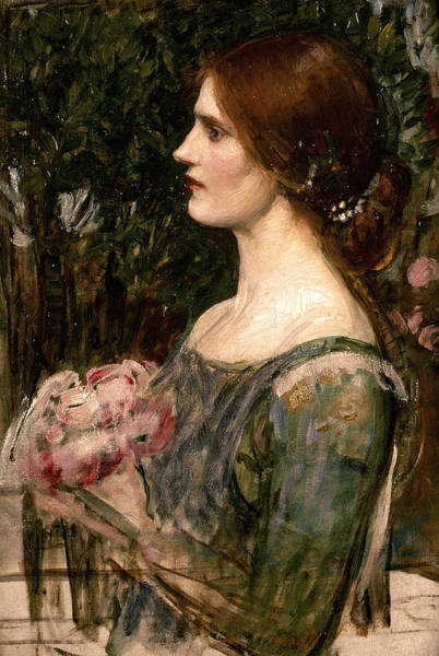 Bridesmaids Painting - The Bouquet by John William Waterhouse