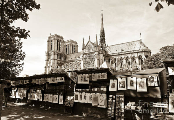 Le Tour De France Wall Art - Digital Art - The Bouquinistes And Notre-dame Cathedral by Perry Van Munster