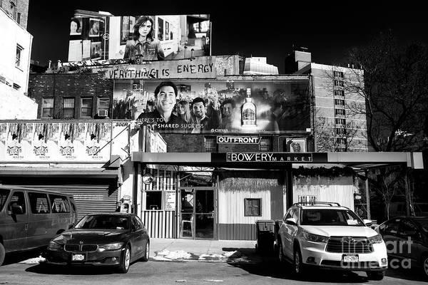 Photograph - The Bowery Market by John Rizzuto