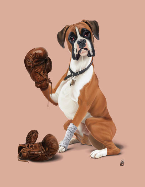 Digital Art - The Boxer Colour by Rob Snow
