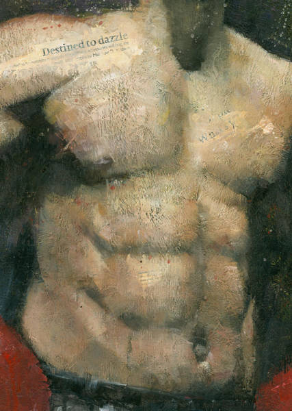 Male Mixed Media - The Boxer by Steve Mitchell