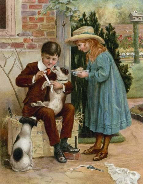 Bandage Wall Art - Painting - The Boy Doctor by English School