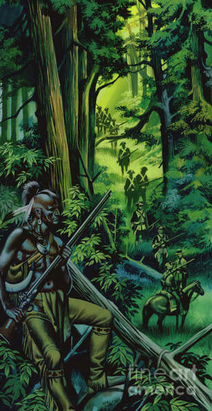 Braves Painting - The Braddock Expedition by Ron Embleton
