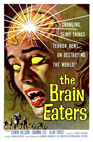 Brain Painting - The Brain Eaters, Horror Movie Poster by Long Shot