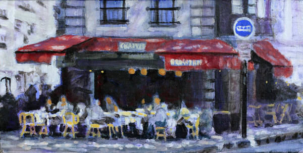 Dining Al Fresco Painting - The Brasserie by David Zimmerman