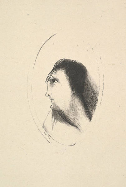 Relief - The Breadth And Flatness Of The Frontal Bone by Odilon Redon