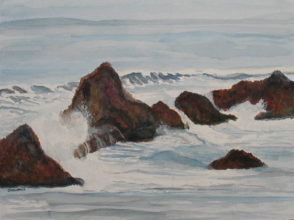 Wall Art - Painting - The Breakers At Seal Rock II by Jenny Armitage