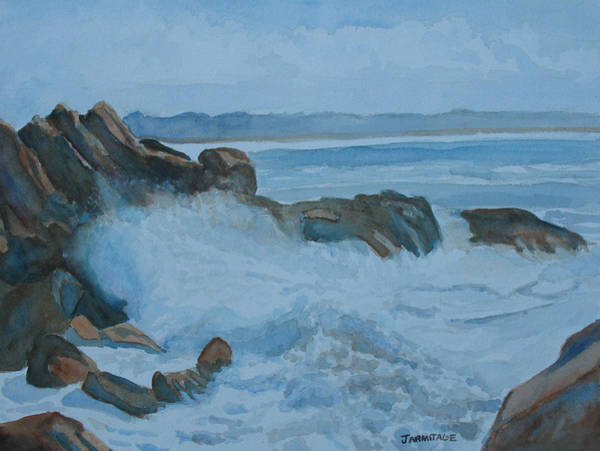 Wall Art - Painting - The Breakers Below Yaquina Head I by Jenny Armitage