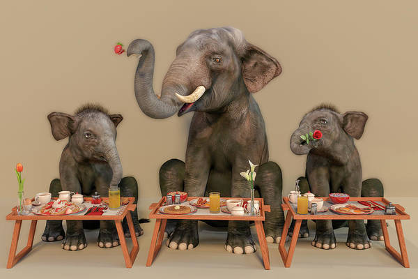 Wall Art - Digital Art - The Breakfast Lesson by Betsy Knapp