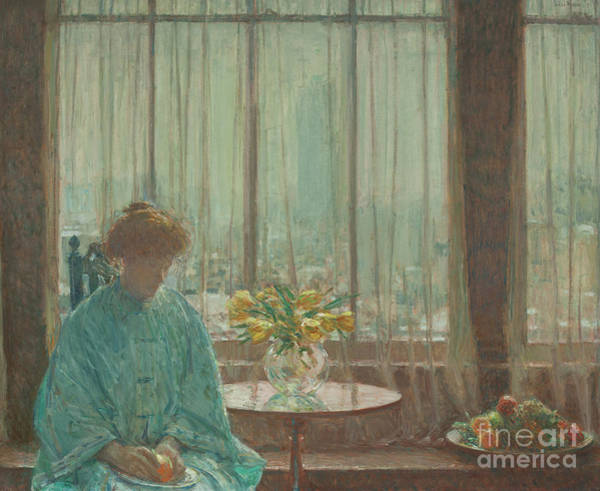 Painting - The Breakfast Room, Winter Morning, 1911  by Childe Hassam