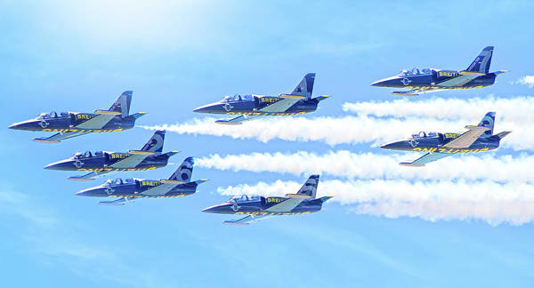 Wall Art - Photograph - The Breitling Jet Team by Mark Andrew Thomas