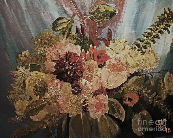 Painting - The Bridal Bouquet by Francois Lamothe