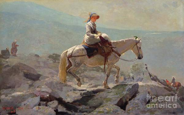 Horseback Wall Art - Painting - The Bridal Path by Winslow Homer