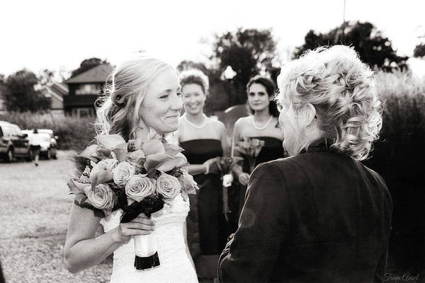 Photograph - The Bride And Her Mother  by Trina Ansel