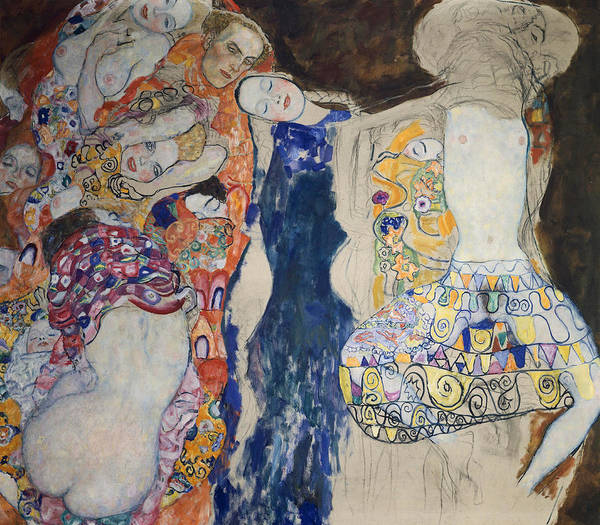 Entwine Wall Art - Painting - The Bride by Gustav Klimt