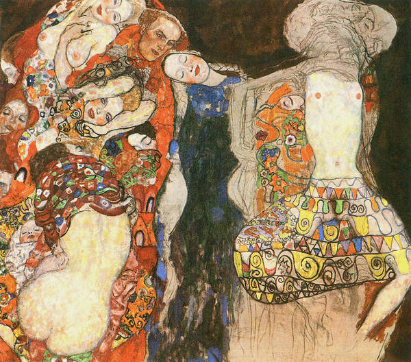Bridesmaids Painting - The Bride Unfinished, 1918 by Gustav Klimt