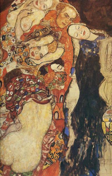 Pregnancy Painting - The Bride Unfinished, Detal_2 by Gustav Klimt