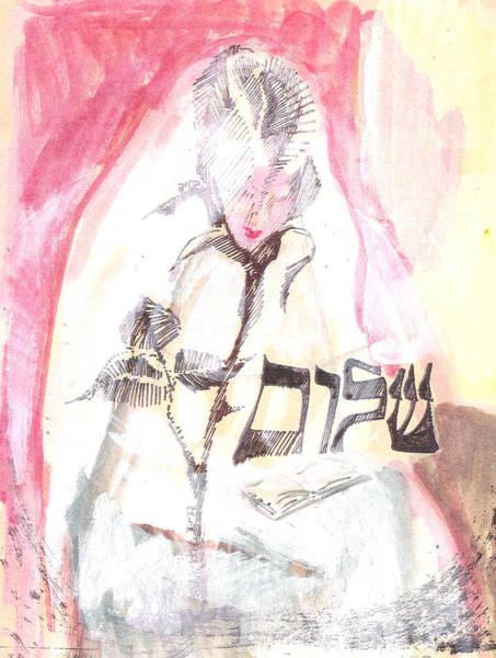 Pray For Love Wall Art - Painting - The Bride's Heart by Bev JoyfulJewishArt