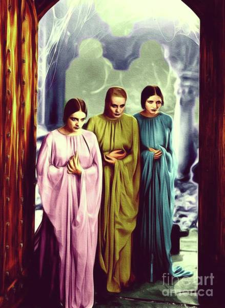 Dracula Painting - The Brides Of Dracula by John Springfield