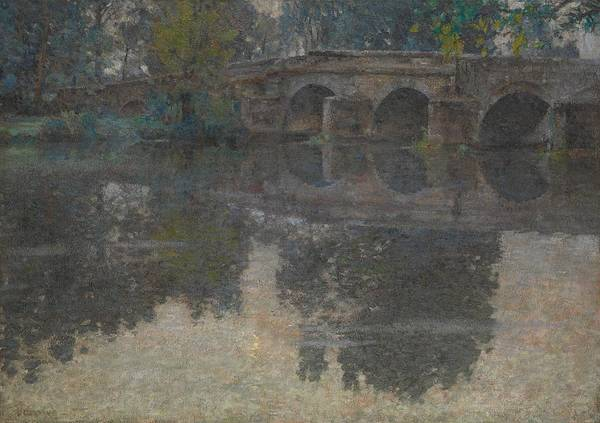 Painting - The Bridge At Grez by Robert Vonnoh