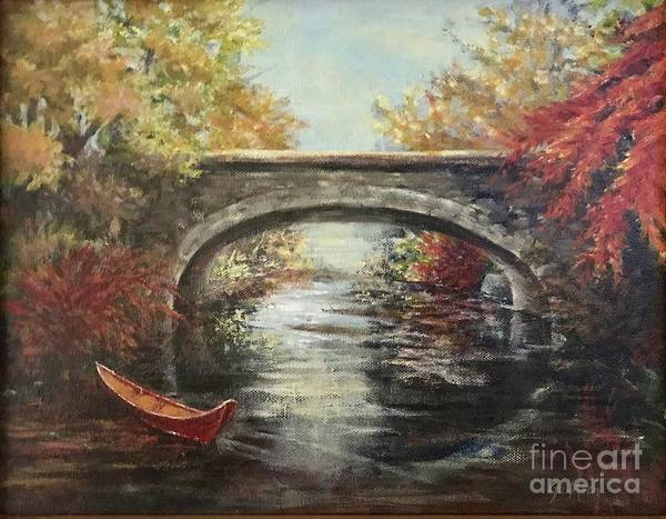 Painting - The Bridge Fall by Gail Allen