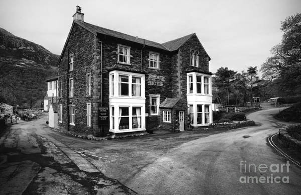 Mono Photograph - The Bridge Hotel, Buttermere by Smart Aviation