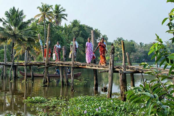 Kerala Wall Art - Photograph - The Bridge by Marion Galt