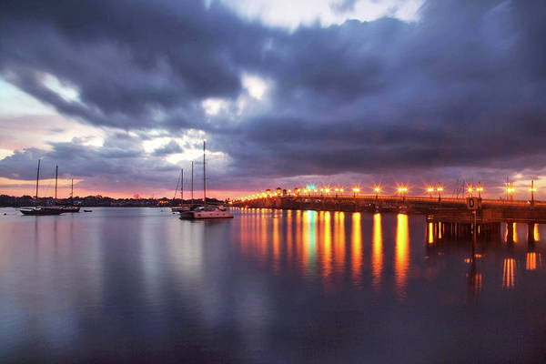 Matanzas Inlet Wall Art - Photograph - The Bridge Of Lions At Sunrise by Robin Anderson