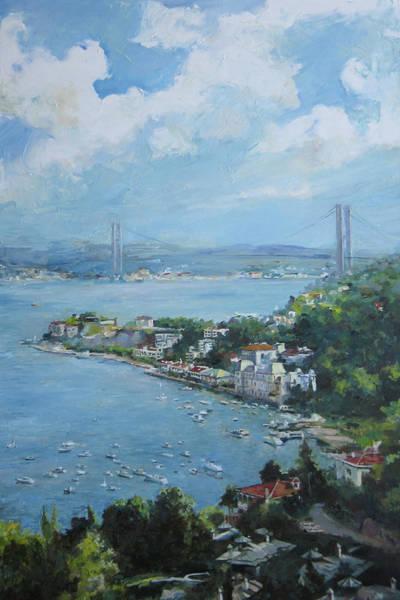 Painting - The Bridge Over Bosphorus by Tigran Ghulyan