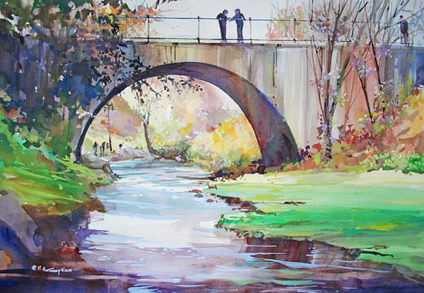 Painting - The Bridge Over Brewster Garden by P Anthony Visco