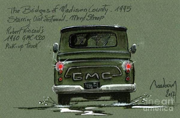 Le Mans 24 Painting - The Bridges Of Madison County - Clint Eastwood Pick Up #10 by Alain Baudouin