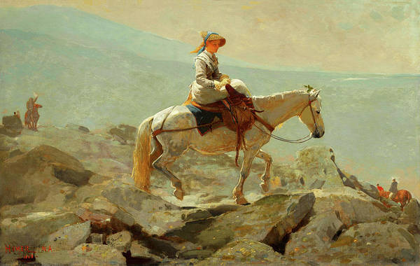 Painting - The Bridle Path White Mountains By Winslow Homer 1868 by Movie Poster Prints