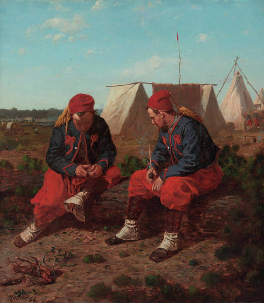 Wall Art - Painting - The Brierwood Pipe by Winslow Homer