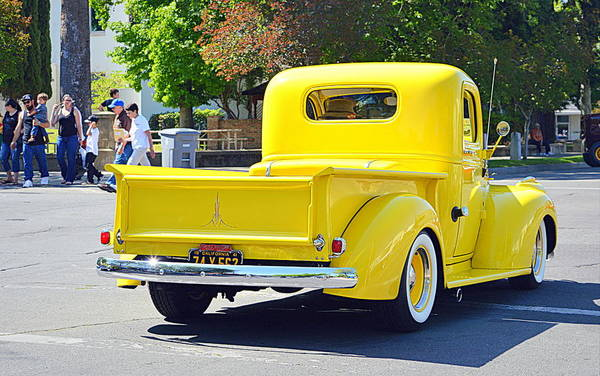Photograph - The Bright Yellow Truck by AJ  Schibig