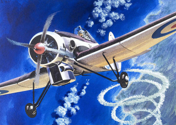 Wall Art - Painting - The Bristol 138a Attempts An Altitude Record by Wilf Hardy