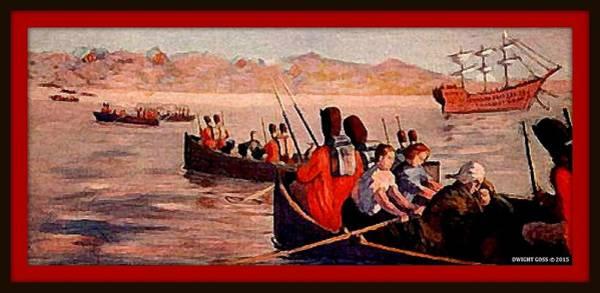 Revolutionary War Mixed Media - The British Retreat From New York City, 1776 by Dwight GOSS