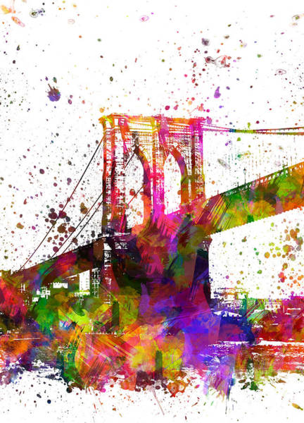 Wall Art - Painting - The Brooklyn Bridge 04 by Aged Pixel