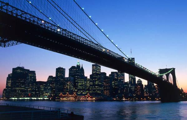 Across Photograph - The Brooklyn Bridge by American School