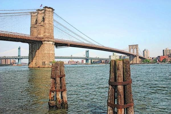 Photograph - The Brooklyn Bridge by Ericamaxine Price