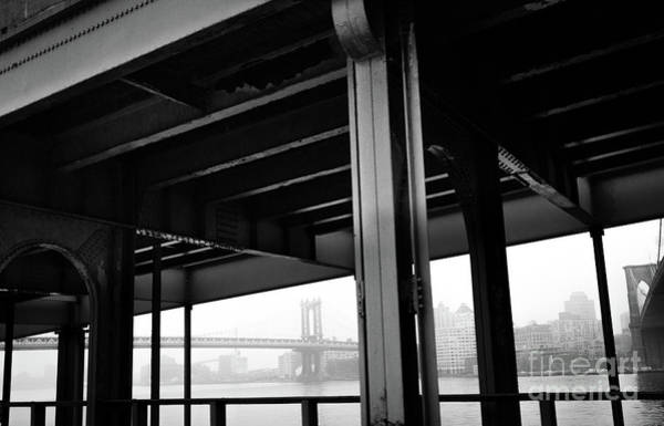 The Brooklyng Bridge And Manhattan Bridge From Fdr Drive Art Print
