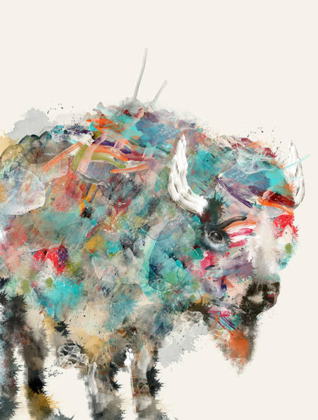 Plains Painting - The Buffalo by Bri Buckley
