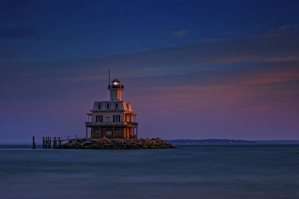 East County Photograph - The Bug Light At Dusk by Rick Berk