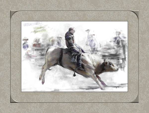 Painting - The Bull Rider by Susan Kinney
