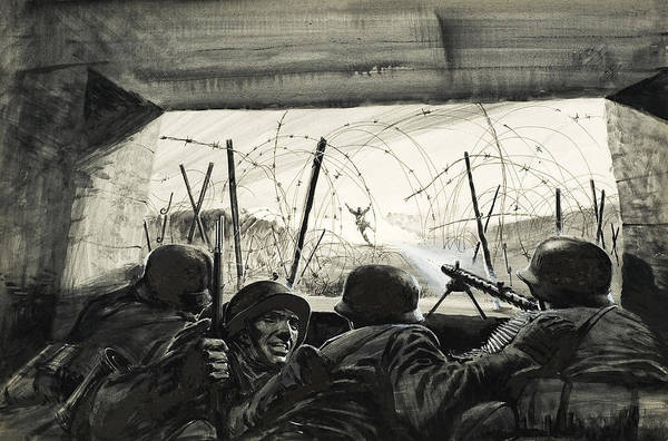 Wire Painting - The Bunker  by Graham Coton